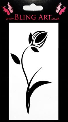 Temporary Tattoo Black Tulip Tribal by Blingartuk on Etsy