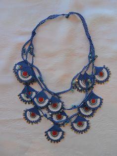 Ege yöresi efe oyası modelinden esinlenmiş kolye fiyat: tl.125