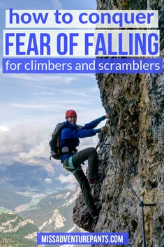 Is your fear of heights holding you back from tackling sweet alpine scrambles and difficult Colorado Try these 11 mind tricks to conquer fear of falling. Indoor Climbing, Ice Climbing, Climbing Quotes, Climbing Technique, Climbing Workout, Fear Of Falling, Mind Tricks, Summer Activities For Kids, Hiking Tips