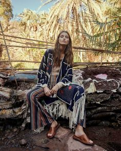 Luna Bijl for Free People Latest Campaign. Photographed by Andreas Ortner. Styling by Amanda Greyson and Hair & Makeup by Georgios Tsiogkas. Gypsy Style, Hippie Style, Bohemian Style, Boho Chic, Art Director, Modern Gypsy, Vogue India, Cyberpunk Fashion, Mode Boho