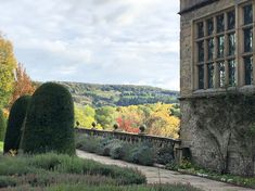 Autumn at Haddon Hall with shamelessly borrowed views over the rolling Derbyshire countryside. Simply delightful.