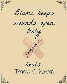 """True!  Time to stop the """"BLAME GAME"""""""