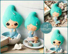 PDF Pattern. Cute mermaids. van Noialand op Etsy