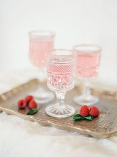 Raspberry Specialty Cocktails | Michele Beckwith Photography | Modern Anne of Green Gables Wedding Inspiration in Blush and Spring Green