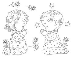 Vintage Embroidery Patterns Tri-chem 0667 p. 05 a Baby Embroidery, Hand Embroidery Patterns, Vintage Embroidery, Cross Stitch Embroidery, Machine Embroidery, Embroidery Transfers, Vintage Patterns, Vintage Designs, Coloring Pages