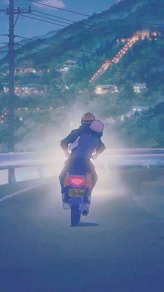 Kimi no na wa - Your Name Love Cartoon Couple, Cute Love Cartoons, Anime Love Couple, Paar Illustration, Couple Illustration, Cute Couple Drawings, Cute Couple Art, Scenery Wallpaper, Cute Wallpaper Backgrounds