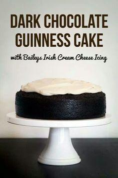 Dark choc guniess cake