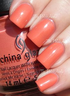 China Glaze Mimosa's Before Mani's: it's almost pink, but I want it!