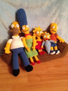 The Simpsons couch scene I finished :)  - crochet, image only
