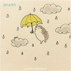 961 雨の日でも気分上々 It's raining today but I feel good.