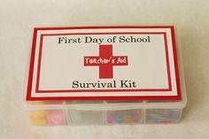 first day of school school-crafts