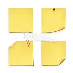 Adhesive Notes Royalty Free Stock Vector Art Illustration