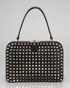 Rockstud Frame Bag by Valentino at Bergdorf Goodman.  Unbelievably perfect.  $3295