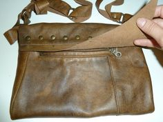 Steampunk bag( back look) - very soft leather