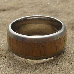 Wide Titanium & Wooden Wedding Ring | LOVE2HAVE in the UK! Wood Inlay Rings, Wooden Rings, Titanium Wedding Rings, About Uk, Rings For Men, Wood Rings, Men Rings, Titanium Wedding Bands