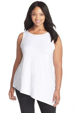 Eileen+Fisher+Sleeveless+Bateau+Neck+Tunic+(Plus+Size)+available+at+#Nordstrom