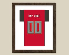Tampa Bay Buccaneers print  Jersey Design   by CSportImages