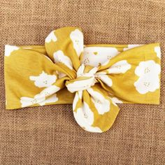 Jersey Knit Headband in Mustard by gracefulprojects on Etsy