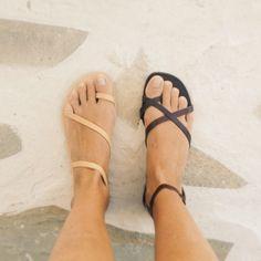 Greek sandals. Love the nude ones!                              …