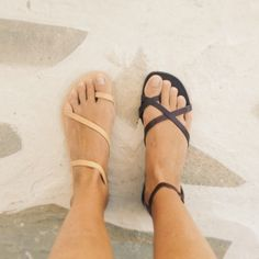 Greek sandals. Love the nude ones!