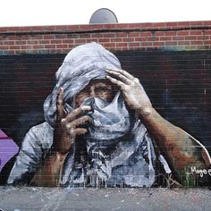 Cover up, Hollywood, Los Angeles Fintan Magee Amazing Street Art, Best Street Art, 3d Street Art, Street Artists, Graffiti Artwork, Art Mural, Graffiti Wall, Murals Street Art, Street Art Graffiti