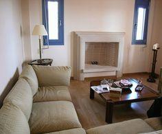 Χτιστό Τζάκι με πυρότουβλο και διακόσμηση πέτρας Κύπρου Home Decor, Decor, Fireplace