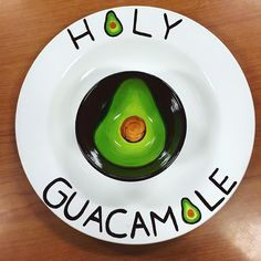 You've guac to be kidding me this chip and dip piece looks delicious enough to eat!