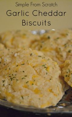 Simple from scratch garlic cheddar biscuits recipe, a real food recipe.