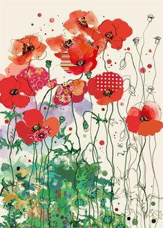 B031 Red Field Poppies