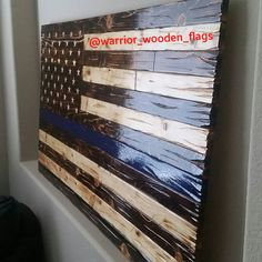 Large light burn thin blue line ready for shipment. . . . warriorwoodenflags #wallart #woodwork #woodflag #woodenflag #distressed #handcarved #handmade #burnedwood #police #thinblueline #veteran #art #warrior #photooftheday #instaart #woodart #woodartist #wooddecor #decor #policeofficer #firefighter #patriotic #instaartist #psalm91 #sheepdog #toGodbetheglory #thinredline #gifted by warrior_wooden_flags
