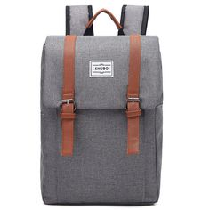 2af29e22e I like this! Simple Square Frosted Splicing Bag Belt Metal Lock Flap School  Backpack only