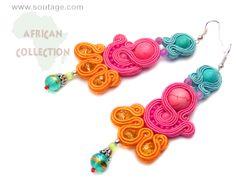 Ghana earrings by Sutasz-Anka http://www.soutage.com/2013/06/ghana-kolczyki.html