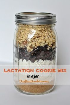 Lactation Cookie Mix in a Jar - great gift for new breastfeeding moms | OnePartSunshine.com