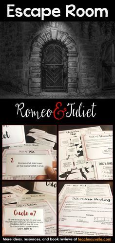 This review activity for Romeo and Juliet by William Shakespeare is a series of puzzles covering plot, character, figurative language, conflict, and quote identification. You can present this as a Breakout Box (groups work at their desks) or as an Escape Room (groups seek clues you've hidden in the classroom). It has been designed to take 30-40 minutes. This resource includes a complete Teacher's Guide (set-up, printing checklist, differentiation) and Answer Key. (grades 7-12)