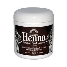 Rainbow Research Henna Hair Color And Conditioner Persian Dark Brown Sable - 4 Oz