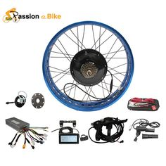 """Passion Ebike DIY Color 48V 1500W Electric Bicycle Fat BikeConversion Kit 26"""" WheelMotor for 175mm or 190mm Hub Motor"""