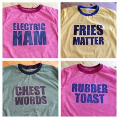 Electric Ham, Fries Matter, Chest Words, Rubber Toast #icarly #nickelodeon