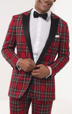 Dobell Mens Burgundy Tartan Waistcoat Tailored Fit