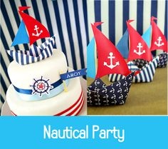 Preppy Nautical Birthday Party with DIY ideas on decorations, printables, food and favors - Great red, white and blue of July or memorial day. Nautical Cake Pops, Nautical Party, Sailor Birthday, Sailor Party, 4. Juli Party, 4th Of July Party, Kids Party Themes, Party Ideas, Toddler Girls
