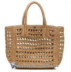 Summer Bag hook of paper raffia Crochet Market Bag, Crochet Tote, Crochet Handbags, Bead Crochet, Handmade Handbags, Handmade Bags, Burlap Bags, Net Bag, Fabric Bags
