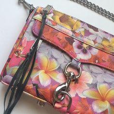 Rebecca Minkoff Multi Floral Mini MAC Authentic. Never used. Silver hardware. Rebecca Minkoff Bags