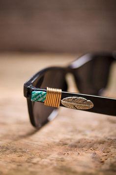 Beaded Wayfarer Sunglasses.