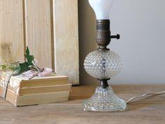 Clear Glass Hobnail Lamp by LittleDixieVintage on Etsy