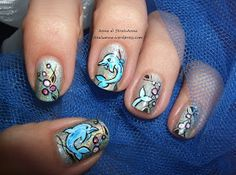 Skeleton nails: dolphins