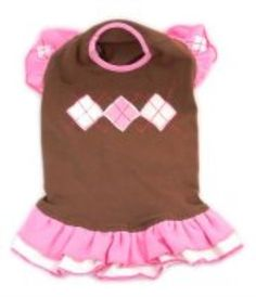 Chocolate Argyle Sweater Dress