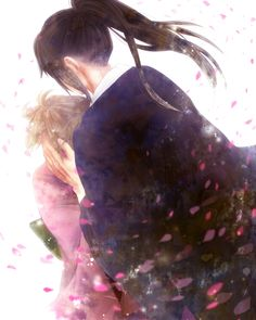 Pixiv Id 4124032, Gin Tama, Okita Mitsuba, Hijikata Toushirou, Cherry Blossom