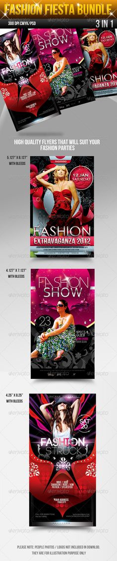 Fashion Fiesta Flyers Bundle — Photoshop PSD #festival #posh • Available here → https://graphicriver.net/item/fashion-fiesta-flyers-bundle/2837575?ref=pxcr