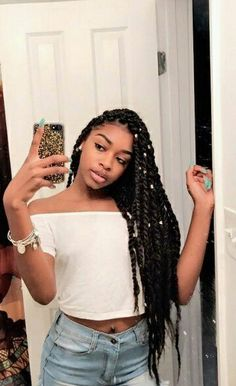 Top 60 All the Rage Looks with Long Box Braids - Hairstyles Trends Blonde Box Braids, Black Girl Braids, Braids For Black Hair, Girls Braids, Twist Braid Hairstyles, My Hairstyle, Twist Braids, Hair Twists, Dreads