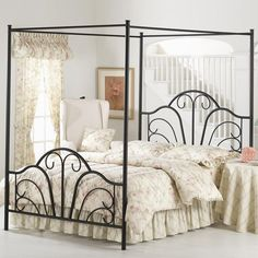 Aksel Canopy Bed. — not this one, but maybe something like it?