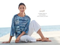 Pure Jill striped soft  light kimono | www.jjill.com